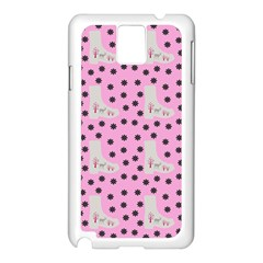 Deer Boots Pink Grey Samsung Galaxy Note 3 N9005 Case (white) by snowwhitegirl