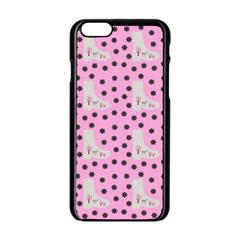 Deer Boots Pink Grey Apple Iphone 6/6s Black Enamel Case by snowwhitegirl