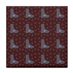 Deer Boots Brown Face Towel by snowwhitegirl