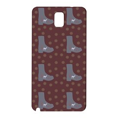 Deer Boots Brown Samsung Galaxy Note 3 N9005 Hardshell Back Case by snowwhitegirl