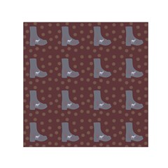 Deer Boots Brown Small Satin Scarf (square) by snowwhitegirl