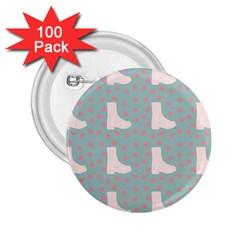 Deer Boots Blue White 2 25  Buttons (100 Pack)  by snowwhitegirl