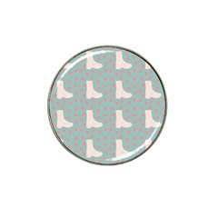 Deer Boots Blue White Hat Clip Ball Marker (4 Pack) by snowwhitegirl