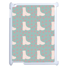 Deer Boots Blue White Apple Ipad 2 Case (white) by snowwhitegirl