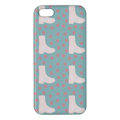 Deer Boots Blue White Apple Iphone 5 Premium Hardshell Case by snowwhitegirl