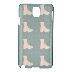 Deer Boots Blue White Samsung Galaxy Note 3 N9005 Hardshell Case by snowwhitegirl