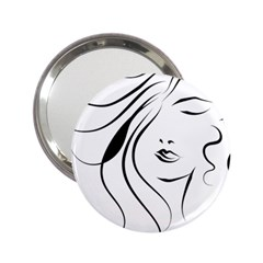 Womans Face Line 2 25  Handbag Mirrors by Jojostore