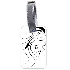 Womans Face Line Luggage Tags (one Side)  by Jojostore