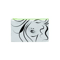 Womans Face Line Cosmetic Bag (xs) by Jojostore