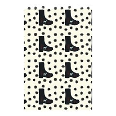 Deer Boots White Black Shower Curtain 48  X 72  (small)  by snowwhitegirl