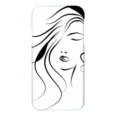 Womans Face Line Apple Iphone X Hardshell Case by Jojostore