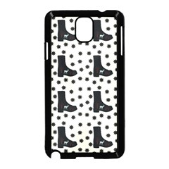 Deer Boots White Black Samsung Galaxy Note 3 Neo Hardshell Case (black) by snowwhitegirl