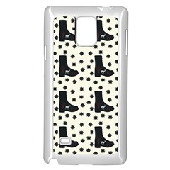 Deer Boots White Black Samsung Galaxy Note 4 Case (white) by snowwhitegirl