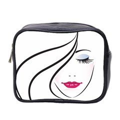 Makeup Face Girl Sweet Mini Toiletries Bag 2 Side by Mariart