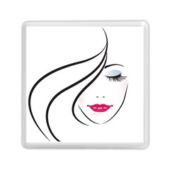 Makeup Face Girl Sweet Memory Card Reader (square)  by Mariart