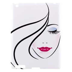 Makeup Face Girl Sweet Apple Ipad 3/4 Hardshell Case by Mariart