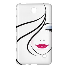Makeup Face Girl Sweet Samsung Galaxy Tab 4 (8 ) Hardshell Case  by Mariart
