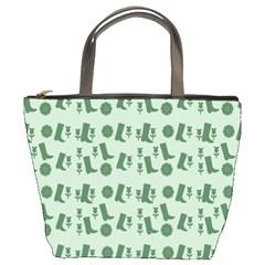 Green Boots Bucket Bags by snowwhitegirl