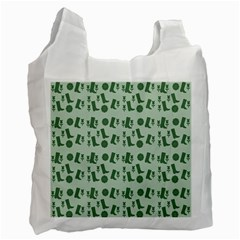 Green Boots Recycle Bag (two Side)  by snowwhitegirl