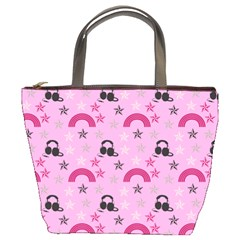 Music Stars Rose Pink Bucket Bags by snowwhitegirl
