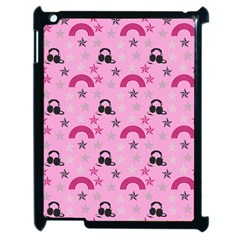 Music Stars Rose Pink Apple Ipad 2 Case (black) by snowwhitegirl