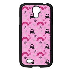 Music Stars Rose Pink Samsung Galaxy S4 I9500/ I9505 Case (black) by snowwhitegirl
