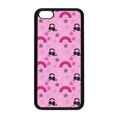 Music Stars Rose Pink Apple Iphone 5c Seamless Case (black) by snowwhitegirl