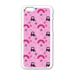 Music Stars Rose Pink Apple Iphone 6/6s White Enamel Case by snowwhitegirl