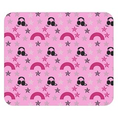 Music Stars Rose Pink Double Sided Flano Blanket (small)  by snowwhitegirl