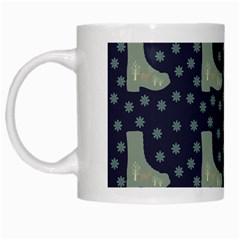 Blue Boots White Mugs by snowwhitegirl