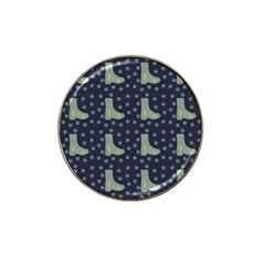 Blue Boots Hat Clip Ball Marker by snowwhitegirl