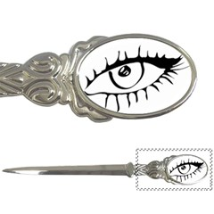 Drawn Eye Transparent Monster Big Letter Openers by Alisyart