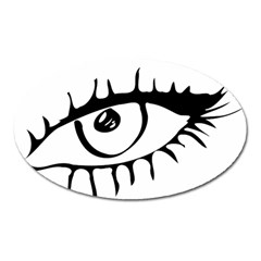 Drawn Eye Transparent Monster Big Oval Magnet by Alisyart