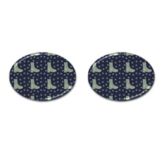 Blue Boots Cufflinks (oval) by snowwhitegirl