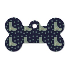Blue Boots Dog Tag Bone (one Side) by snowwhitegirl