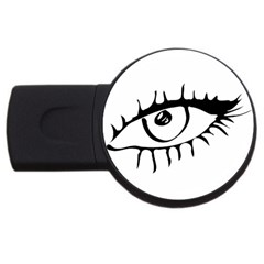 Drawn Eye Transparent Monster Big Usb Flash Drive Round (4 Gb) by Alisyart