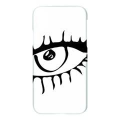 Drawn Eye Transparent Monster Big Apple Iphone X Hardshell Case by Alisyart