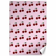 Pink Cherries Canvas 12  X 18   by snowwhitegirl