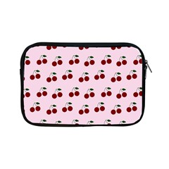Pink Cherries Apple Ipad Mini Zipper Cases by snowwhitegirl