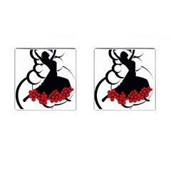 Flamenco Dancer Cufflinks (square) by AnjaniArt
