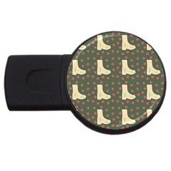 Green Boot Usb Flash Drive Round (2 Gb) by snowwhitegirl