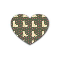 Green Boot Heart Coaster (4 Pack)  by snowwhitegirl