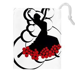 Flamenco Dancer Drawstring Pouches (xxl) by AnjaniArt