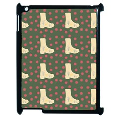 Green Boot Apple Ipad 2 Case (black) by snowwhitegirl