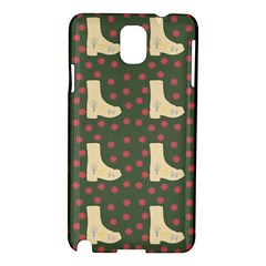 Green Boot Samsung Galaxy Note 3 N9005 Hardshell Case by snowwhitegirl