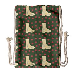 Green Boot Drawstring Bag (large) by snowwhitegirl