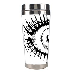 Big Eye Monster Stainless Steel Travel Tumblers by AnjaniArt