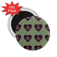 Cupcake Green 2 25  Magnets (100 Pack)  by snowwhitegirl