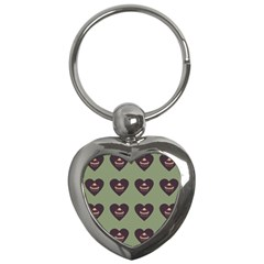 Cupcake Green Key Chains (heart)  by snowwhitegirl