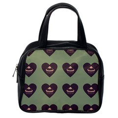 Cupcake Green Classic Handbags (one Side) by snowwhitegirl